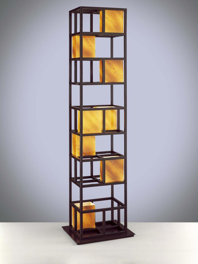 Eight light dorian bronze amber art glass floor lamp p157 615b eight light dorian bronze amber art glass floor lamp p157 615b lighting butler lighting sale aloadofball Images